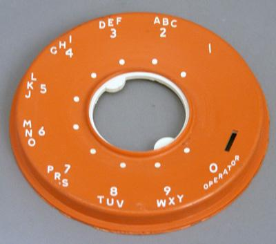 Western Electric 500 Series Dial Faceplate - Orange