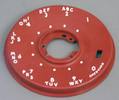Western Electric 500 Series Dial Faceplate - Red