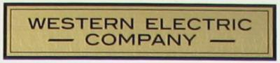 Water Decal - Western Electric - Block Lettering
