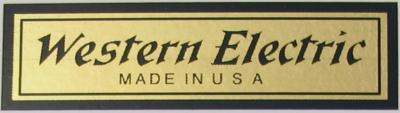 Water Decal - Western Electric - Long