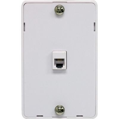 Wall Mountable Modular Wall Jack - White