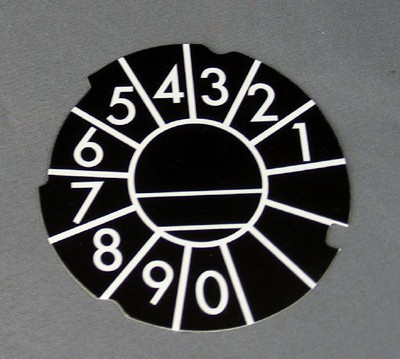 Automatic Electric Dial Card - Black- Numeric