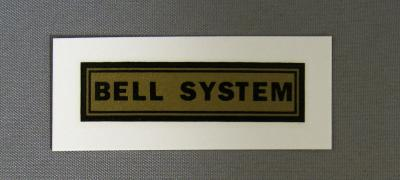 Bell System Water Decal - small