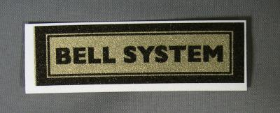 Bell System Water Decal - large