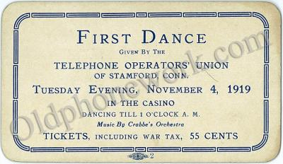 "Vintage ""First Dance"" Postcard"