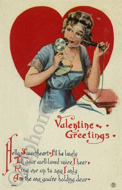 Valentines Day Greetings Postcard