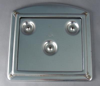 Western Electric - Curved Instruction Card Frame - Chrome
