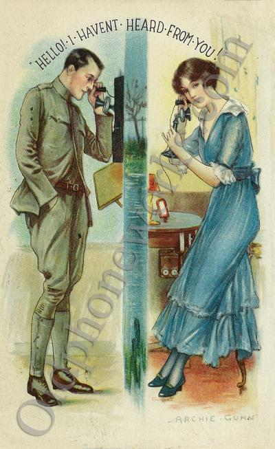 """Vintage Telephone Postcard """"Hello, I haven't heard from you!"""""""