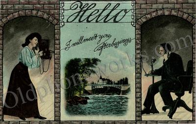 "Vintage Telephone Postcard ""I will meet you"""
