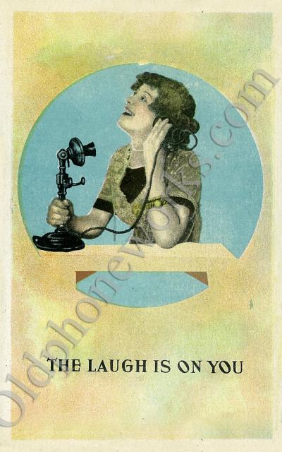 Vintage Telephone Comedy Postcard