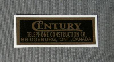 Century Water Decal - Black