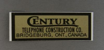 Century Water Decal - Gold