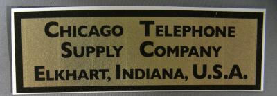 Chicago Telephone Supply Company Water Decal
