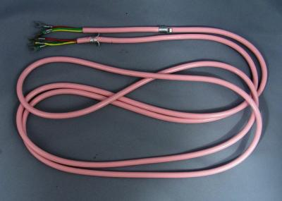 Pink Line Cord - Spade to Spade - 3 Conductor - Round