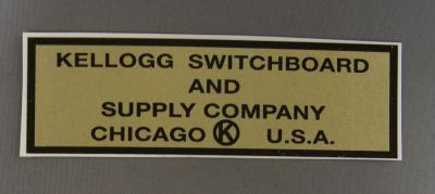 Kellogg Switchboard and Supply Company Water Decal