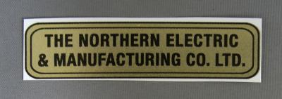 Water Decal - Northern Electric  & Manufacturing