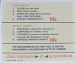 Payphone Instruction Card -  Canadian