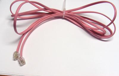 Pink Line Cord - Mod to Mod - 4 Conductor - Flat