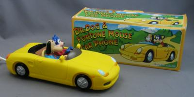 Dr Dog and Fortune Mouse Novelty Car Telephone - Yellow