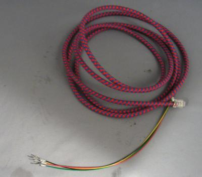 Premium Cloth Covered Line Cord - Red and Blue Rattlesnake