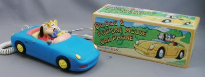 Dr Dog and Fortune Mouse Novelty Car Telephone - Blue