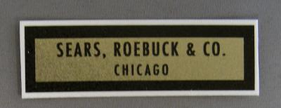 Sears Roebuck & Co water decal