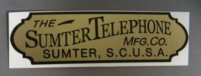 Sumter Telephone Water Decal