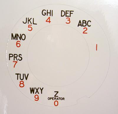 Automatic Electric Dial Plate Overlay - Operator Z
