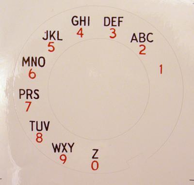 Automatic Electric Alphanumeric Dial Plate Overlay