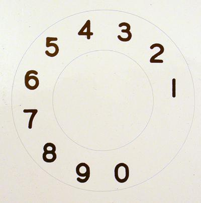 North Electric Numeric Dial Plate Overlay