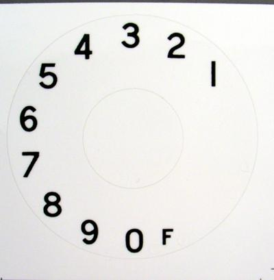 British Post Office (B.P.O.) Numeric Dial Plate Overlay