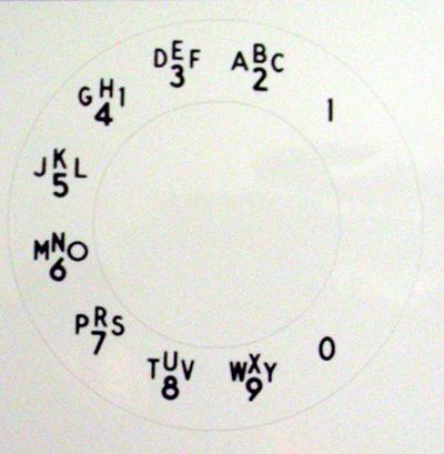 Western Electric  Alphanumeric Princess Dial Plate Overlay