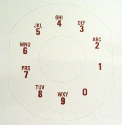 Nothern Electric  Alphanumeric Contempra Dial Plate Overlay
