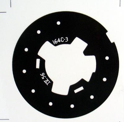 Western Electric Black 164C-3 Dial Plate Overlay for No 6 Dials