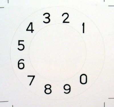 Western Electric 132a Numeric Overlay  for No 2 Dials - Notchless