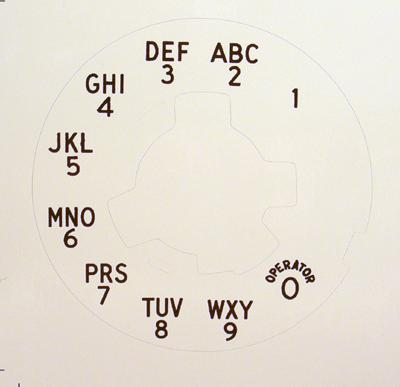 Northern Electric Overlay Alphanumeric for No 6 Dials