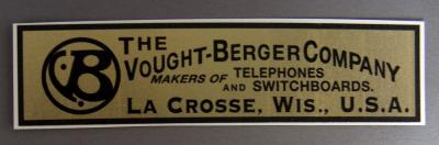 Vought-Berger Co Water Decal