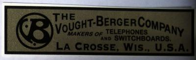 The Vought-Berger Company Water Decal