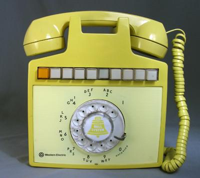 Wall mounted Multi-Line Phone - Yellow
