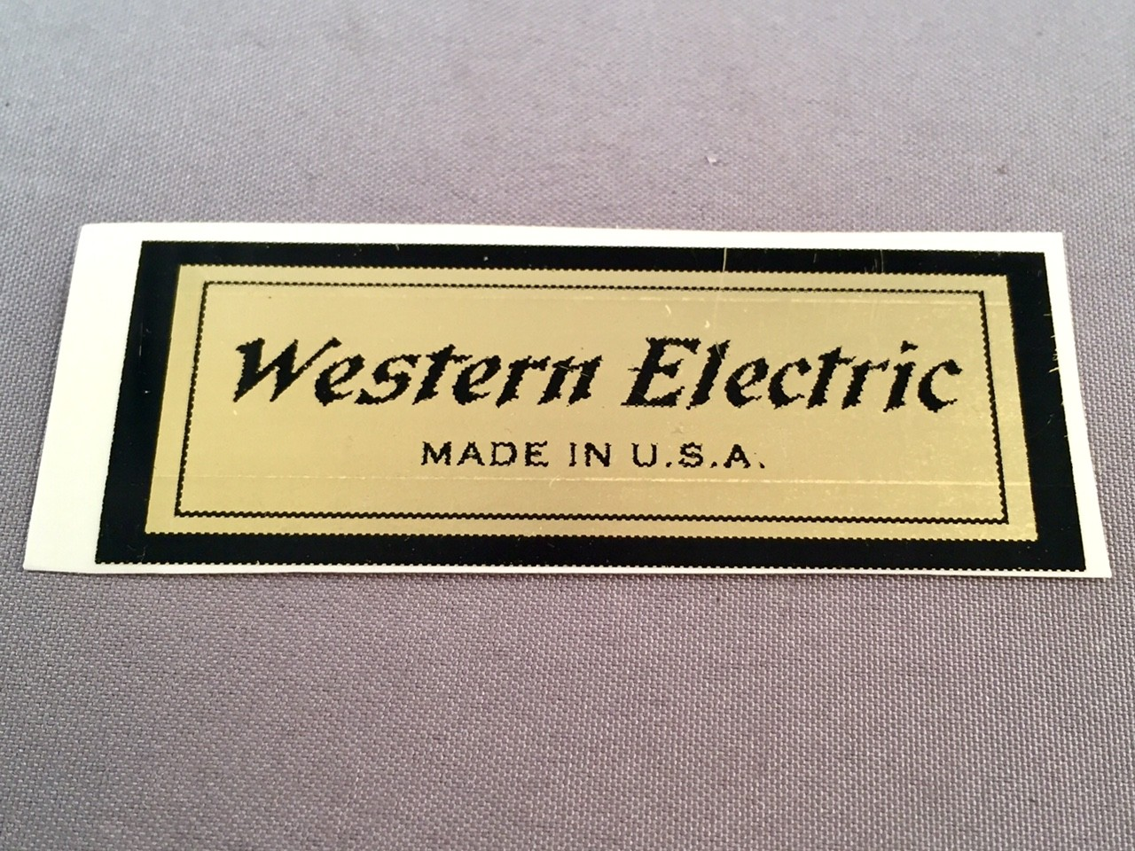 Water Decal - Western Electric II