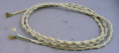 Reproduction Antique Telephone Braided Cloth Cord - Thin Ivory