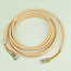 Beige Line Cord - Spade to Spade - 3 Conductor - Round