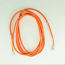 Orange Line Cord - Spade to Spade - 3 Conductor - Round