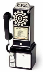 3 Slot Payphone - Black