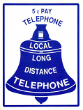 5¢ Payphone Bell Sticker