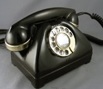 TP-6-A Vintage Telephone with Brass Trim