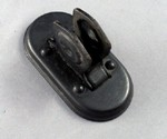 Gray Oval Transmitter Mount