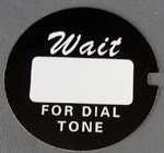 Western Electric Dial Card - Black - Script - Lot of 10