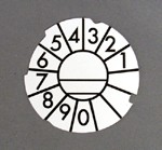 Automatic Electric Dial Card - White - Numeric - Lot of 10