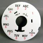 Western Electric - 150b Dial Plate